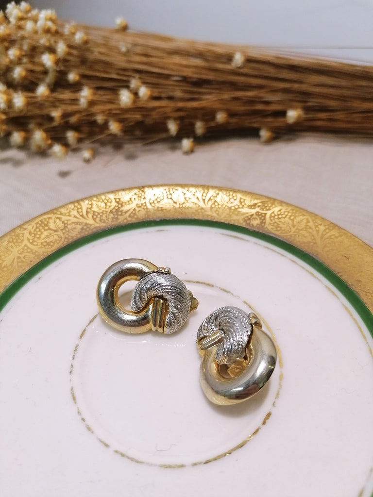 Silver and Golden Vintage Earrings