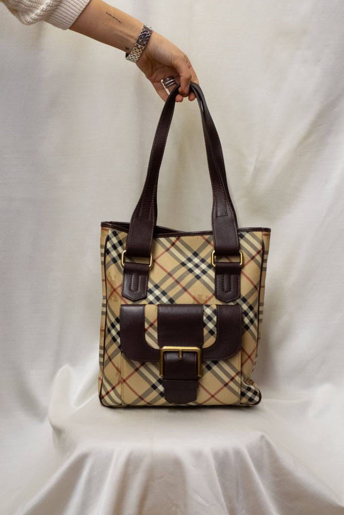 Burberry  100% Leather Tote Bag - with dust bag!