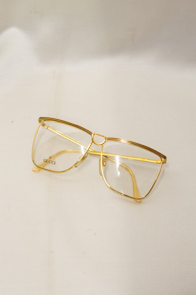 Vintage True Gold Frame Gucci Glasses - from the 80's