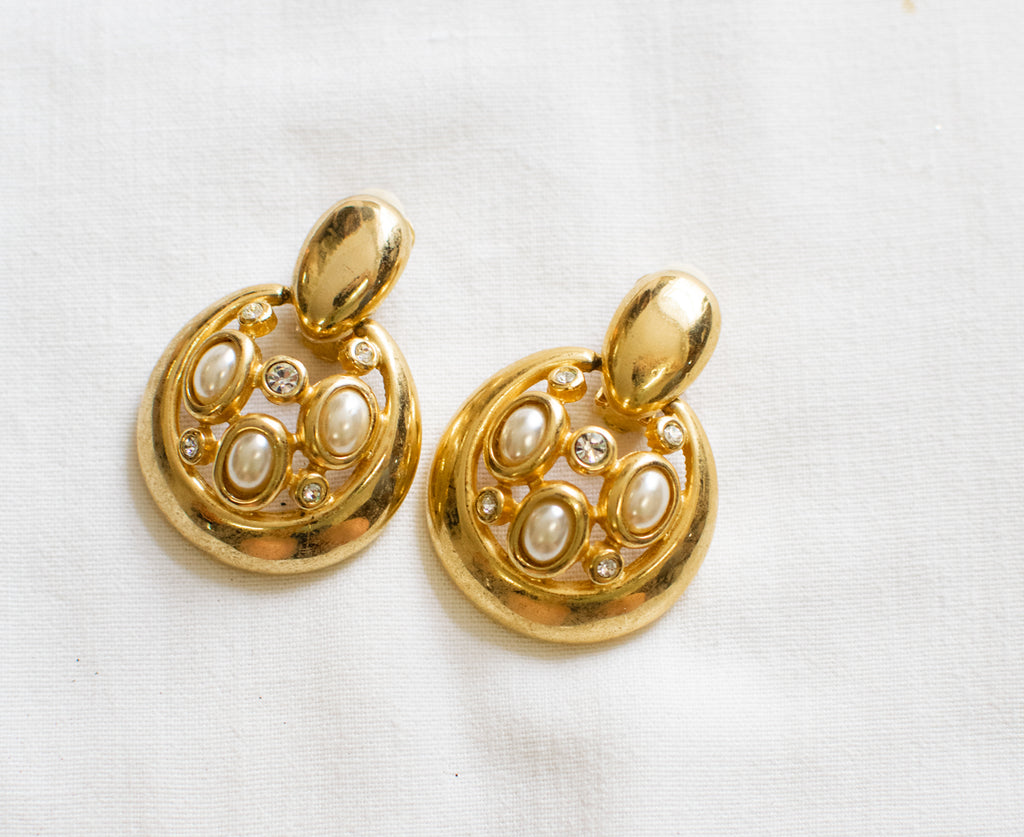 Vintage earrings with pearls - Magnificent earrings