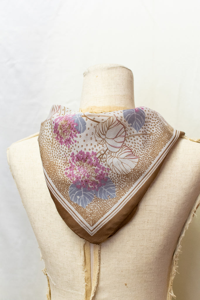 Vintage Soft Scarf - full of flowers!