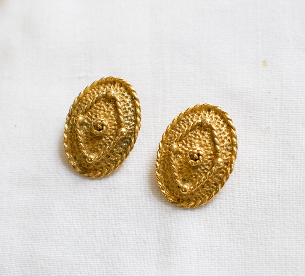 Classic Gold Earrings - piece of art