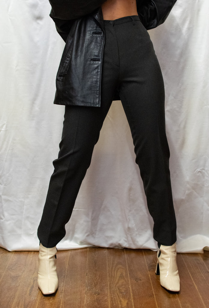 Vintage Grey Waisted Trousers