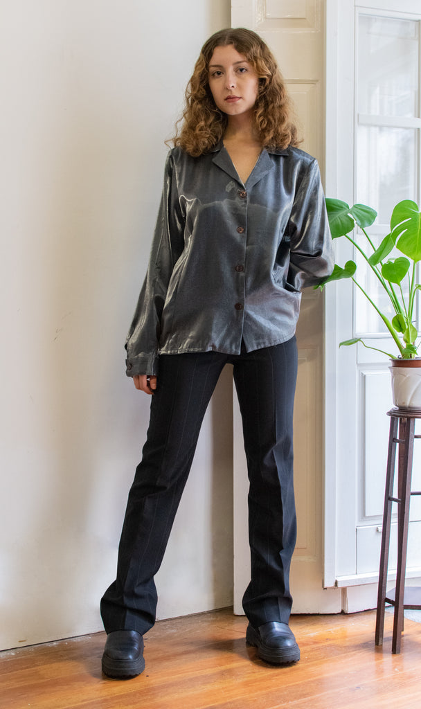 Metallic Grey Shirt