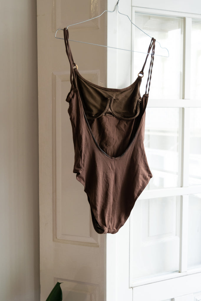 Brown Vintage Swimsuit with Details