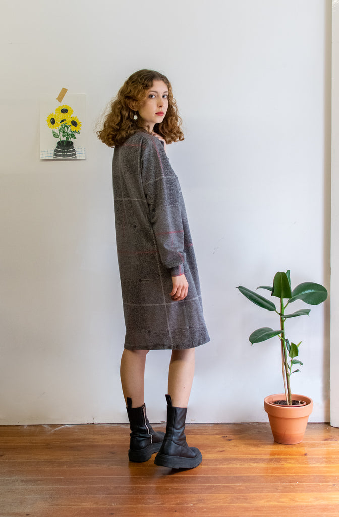 Grey Vintage Dress - so comfy