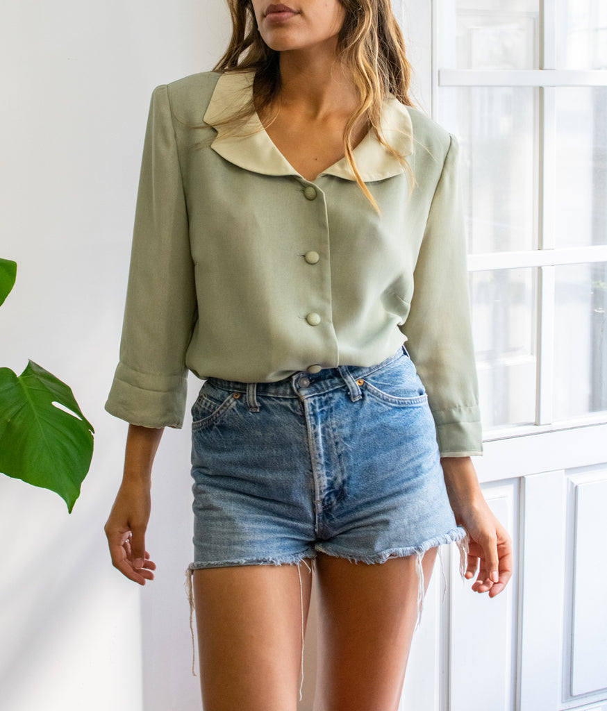 Vintage Blouse with Large Collars - So cute