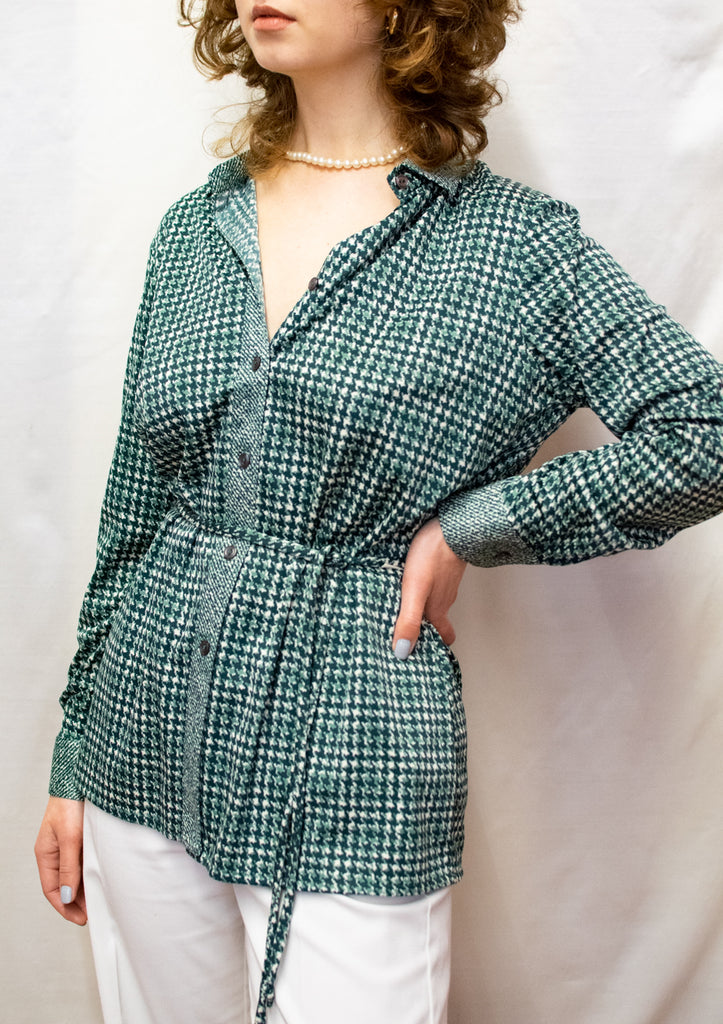 Vintage Green Soft Blouse