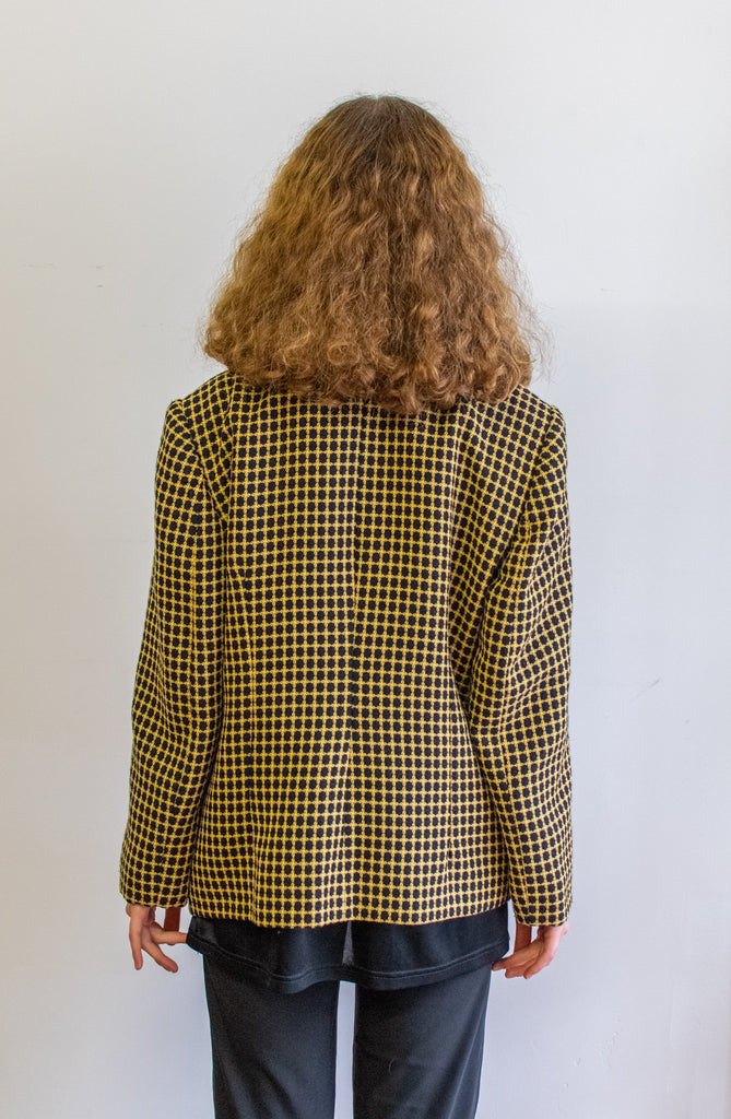 Bee Coat - Classic Vintage Blazer in yellow and black