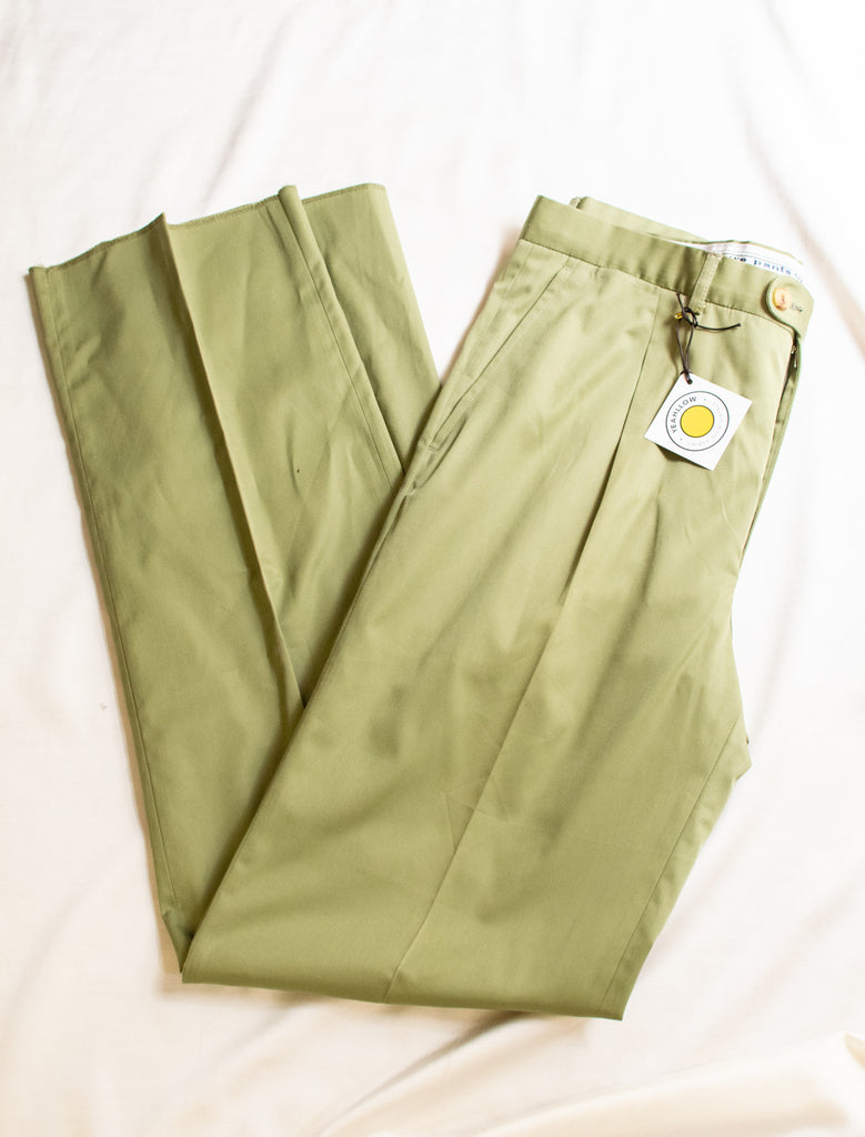 Green Burberry Suit Trousers - so elegant!
