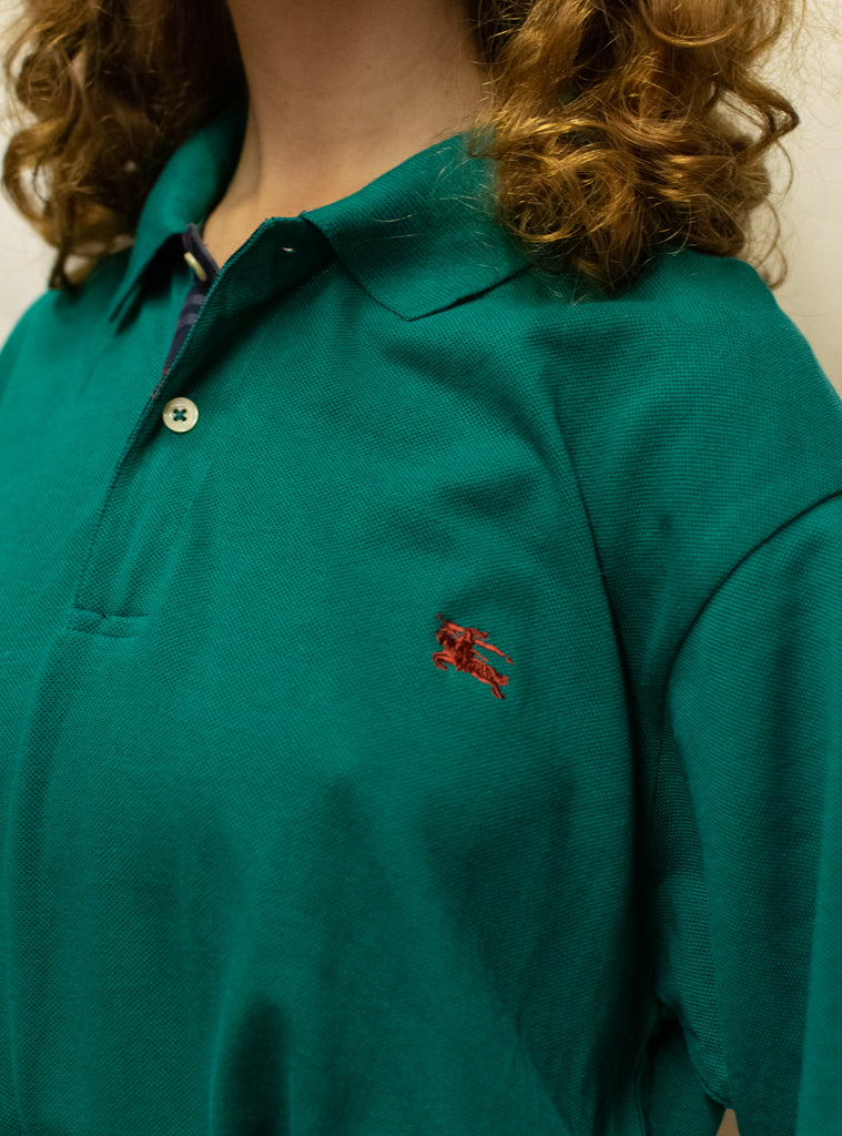 Vintage Turquoise Polo Shirt from Burberry - 100% Cotton