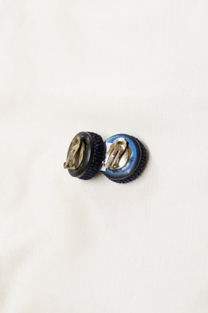 Vintage Dark Blue Earrings