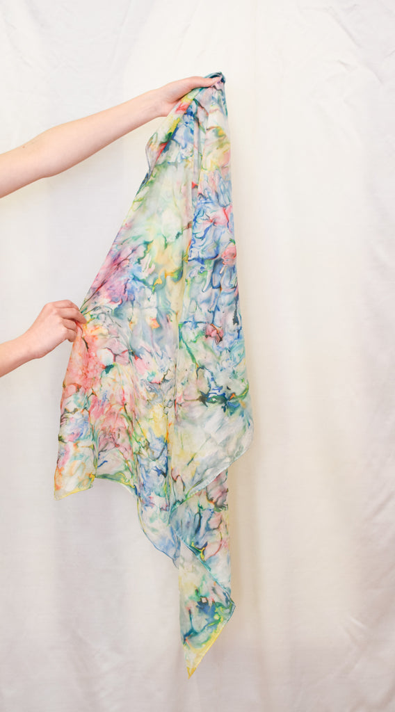 Watercolor Pattern Vintage Scarf