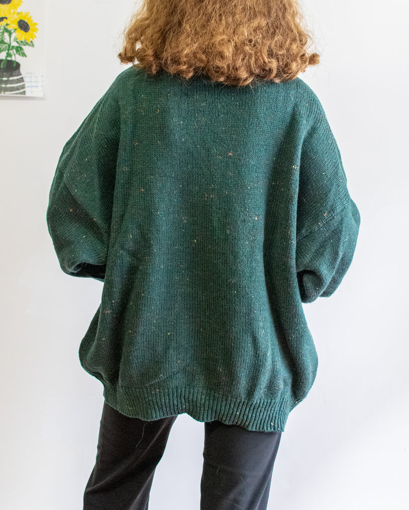 Vintage Wool Sweater In Green - Very comfortable