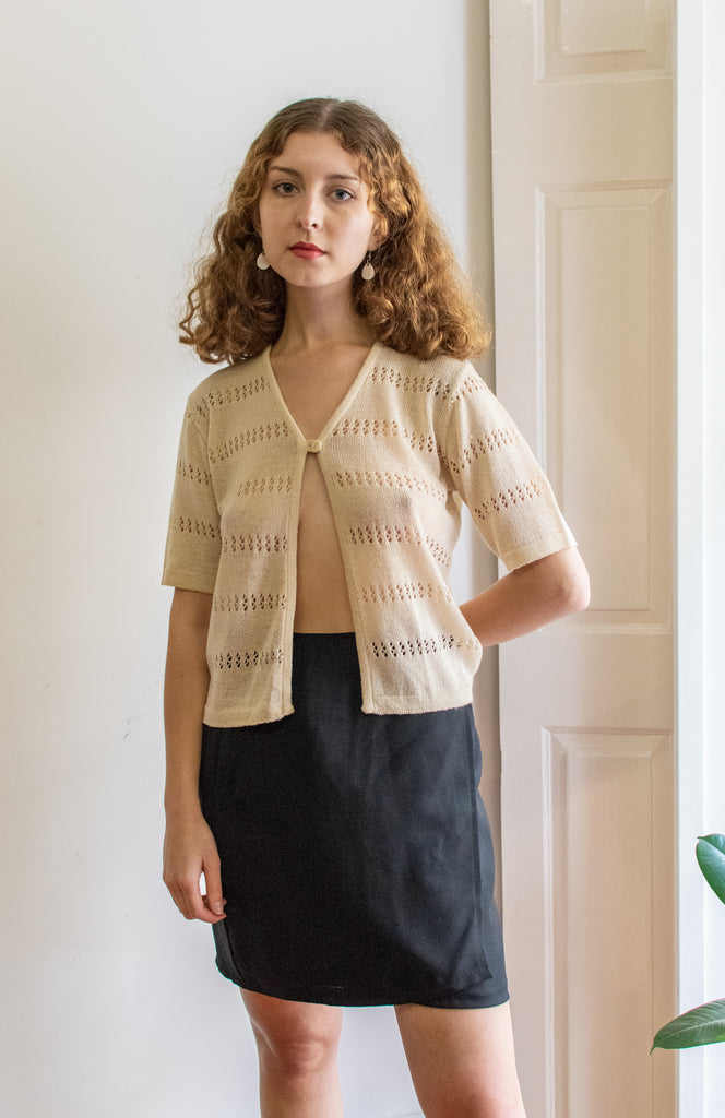 Vintage Knitting Coat - short sleeve - so cute