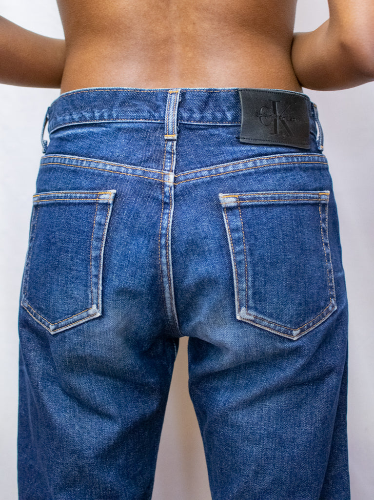 Calvin Klein Dark Denim High Waisted Jeans - Made in U.S.A