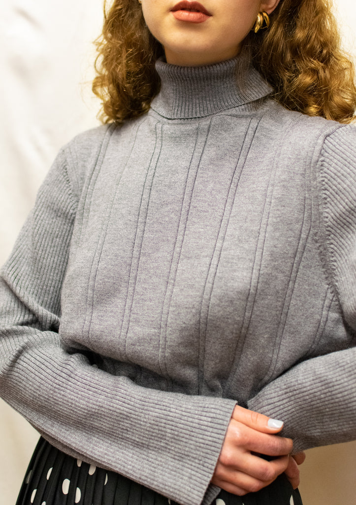 Vintage Grey Turtleneck - very warm