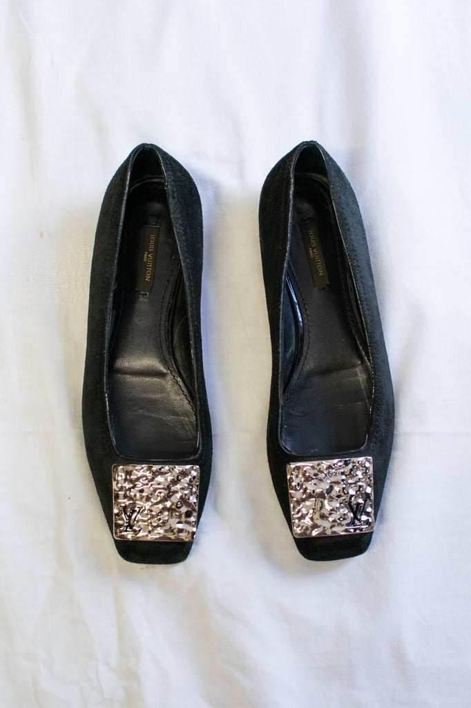 Louis Vuitton Ballerina shoes in Black with Silver
