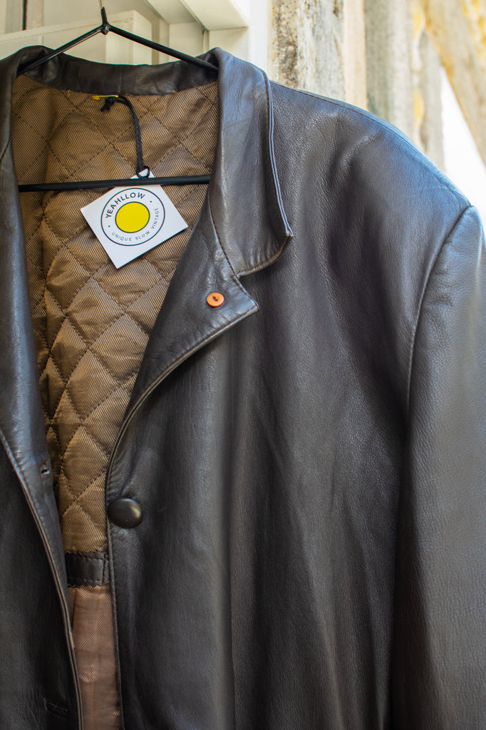 Vintage Leather Jacket in Brown