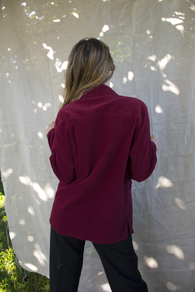 Casual Vintage Jacket in Bordeaux