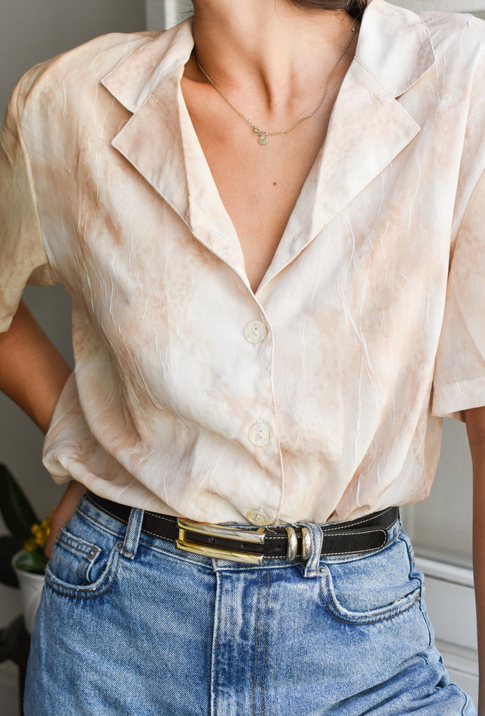 Vintage 90s Shirt in Beige