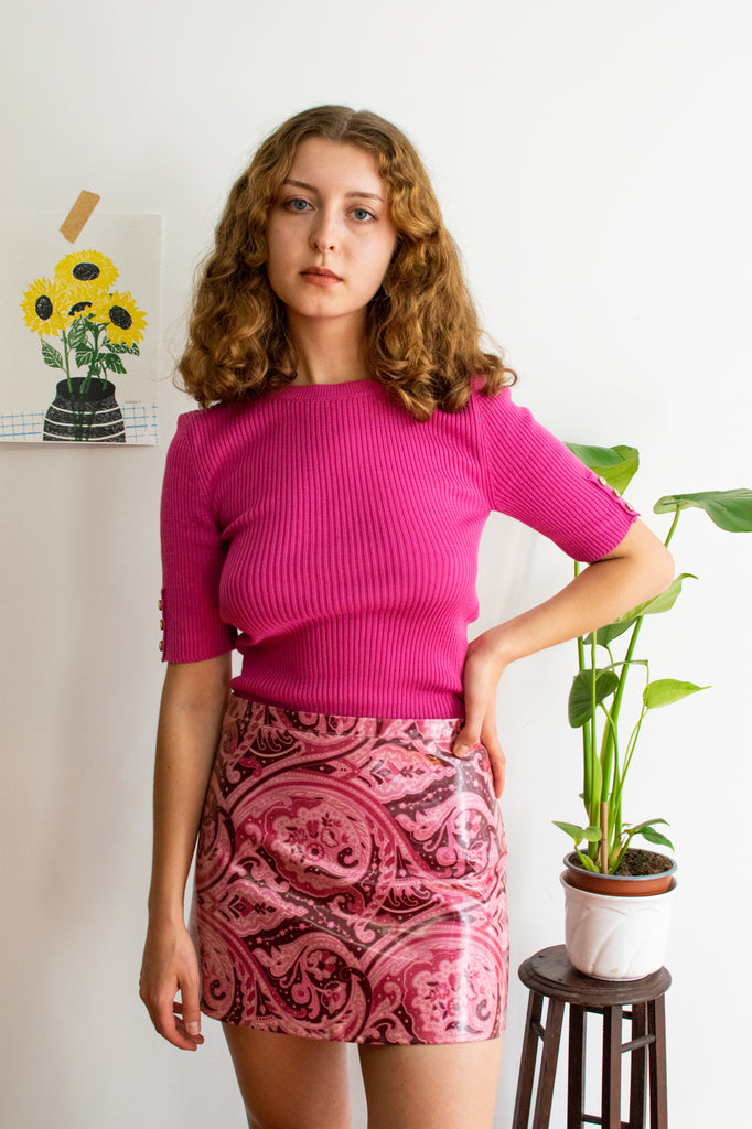 Vintage Knitted Sweater in Pink