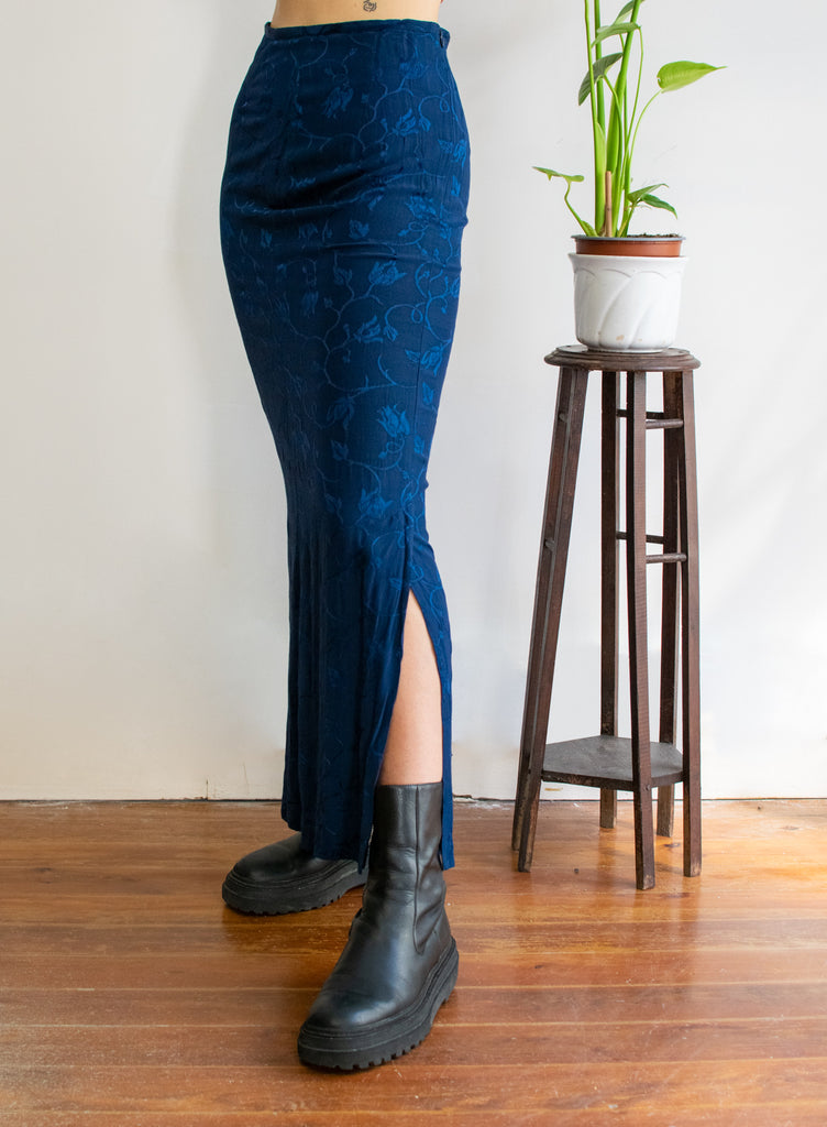Vintage Long Skirt in Blue