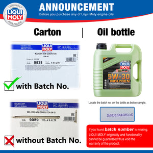How to check if my Engine Oil is authentic from Liqui Moly?