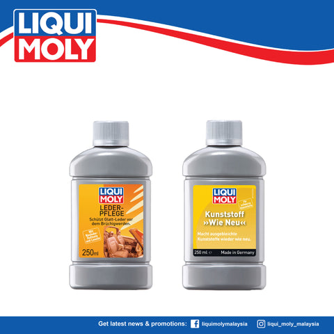 "Liqui Moly Plastic ""LIKE NEW"" Black (250ml) & Leather Care (250ml) 1552/1554 (SUPER BUNDLE DEAL)"