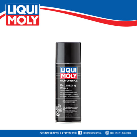 LIQUI MOLY MOTORBIKE CHAIN LUBE SPRAY WHITE 1591 (400ml)
