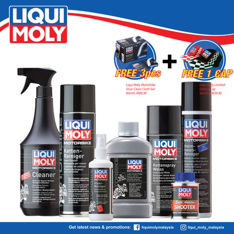 Liqui Moly Full Set Motorbike Care 1601/1571/1602/1603/1509/1591/7820 (SUPER BUNDLE DEAL)