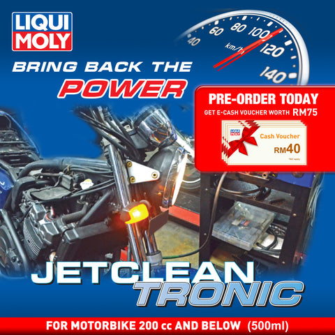 Liqui Moly JetClean Tronic Service (Petrol Motorbike 200 cc and Below) Deep Carbon Cleaning Solution