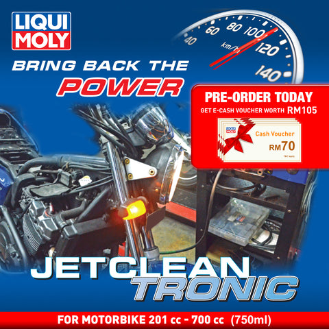 Liqui Moly JetClean Tronic Service (Petrol Motorbike 201 cc - 700 cc) Deep Carbon Cleaning Solution