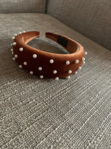 Brown padded headband