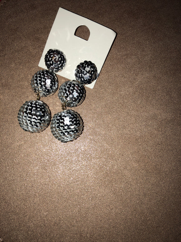 Sequin ball earring