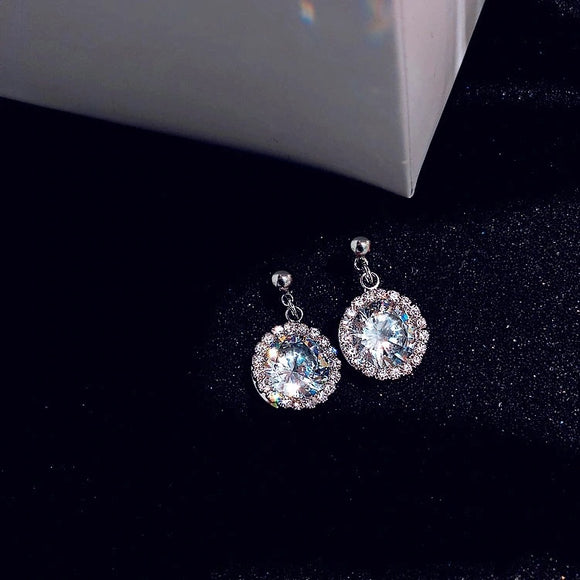 Silver sparkle earrings