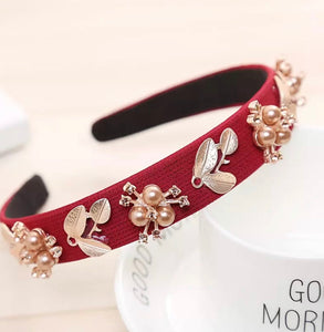 Red embellished headband