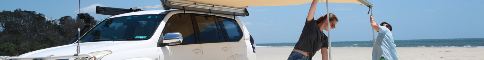Secure your awning with its poles