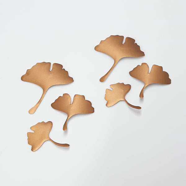 Ginkgo stickers set