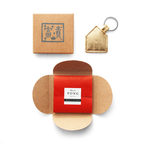 Das Haus Leather Keyholder GOLD Edition