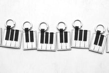 Load image into Gallery viewer, The Piano Keyboard Key Ring FGAB + Linocut Greeting Card