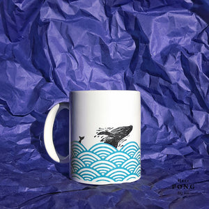Whales in the Ocean Coffee Mug