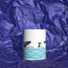 Load image into Gallery viewer, Whales in the Sea Coffee Mug