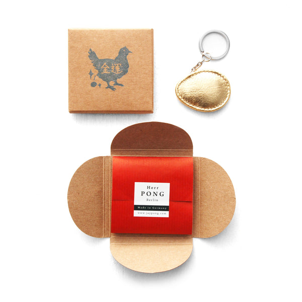 The GOLDEN Egg Leather Keychain