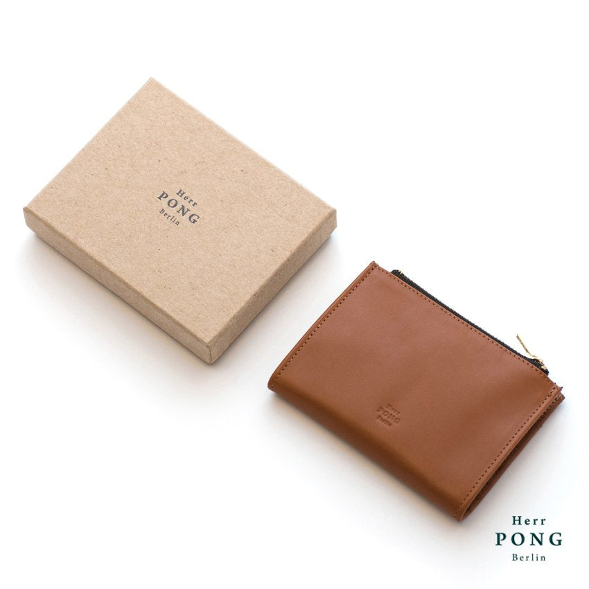 Calf Leather Coin/Card Wallet (L) in Gift Box