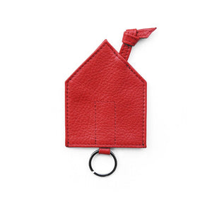 Das Haus Leather Key Pouch/ Bag + Linocut Greeting Card
