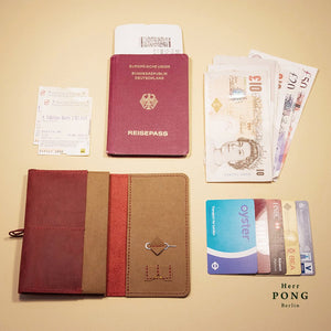 Mitte Collection - Travel Passport Leather Wallet