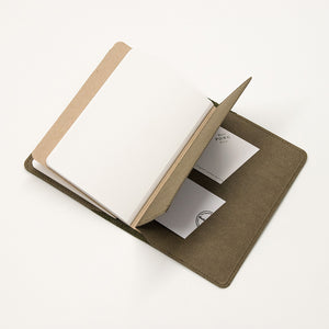 Leather Notebook Cover Olive Green + 2-pack of the original Berlin Notebook gift set