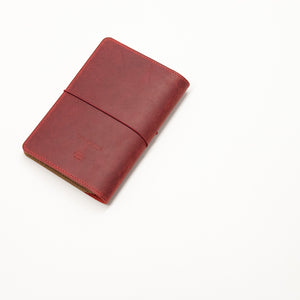 Leather Notebook Cover Red + 2-pack of the original Berlin Notebook gift set
