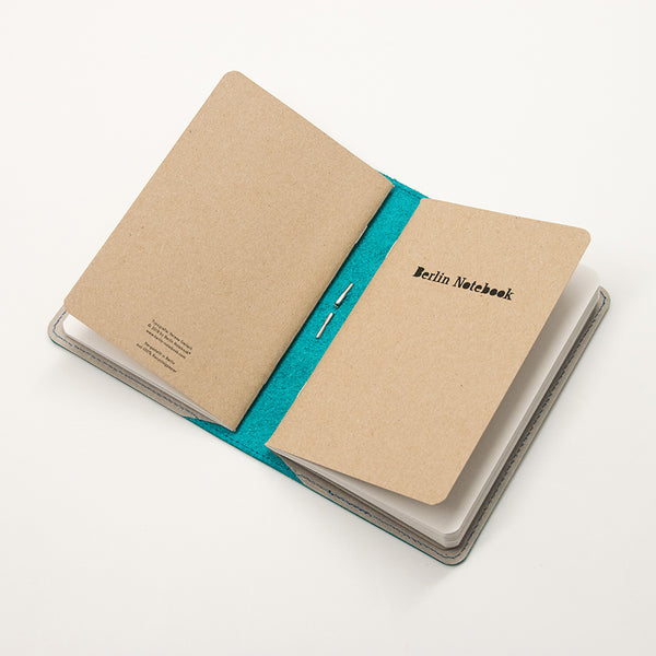 Leather Notebook Cover Petrol + 2-pack of the original Berlin Notebook gift set